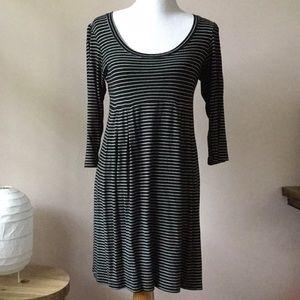H&M Dresses - B&w striped scoop neck dress